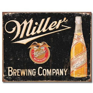 miller brewing vintage tin sign for man cave