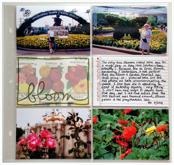 Project Mouse, Ali Edwards Spring, Epcot flowers, Disneyland roses - Disney inspired memory keeping | www.anyhappylittlethoughts.com