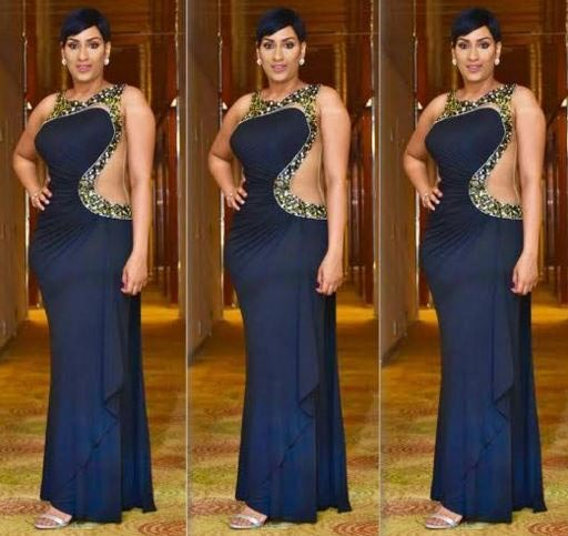 Check Out Juliet Ibrahim's Outfit As She Hosts Glo CAF Awards 2015 (Photos)