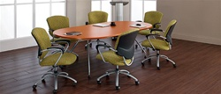 Contemporary Racetrack Conference Table