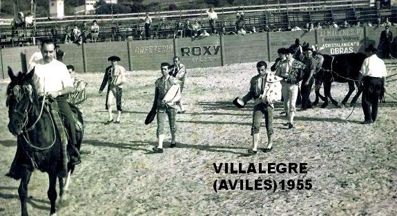 TOROS EN VILLALEGRE AVILÉS 1955