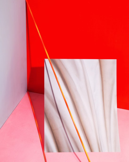 red, pink, gradient, photography, geometric, paper, josef albers