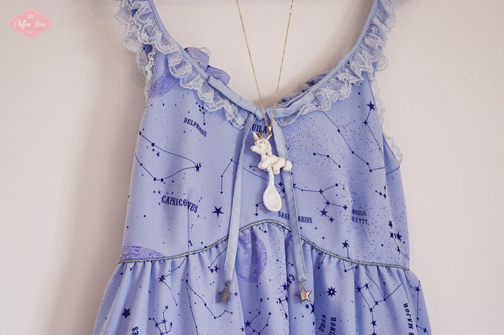 Tokimeki teikoku no momoiro Gabriel lolita otome fashion accessories pendants rabbits available at chiffon rose shop unicorn angelic pretty cosmic blue jsk