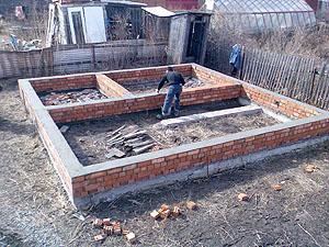 Фундамент для дома своими руками