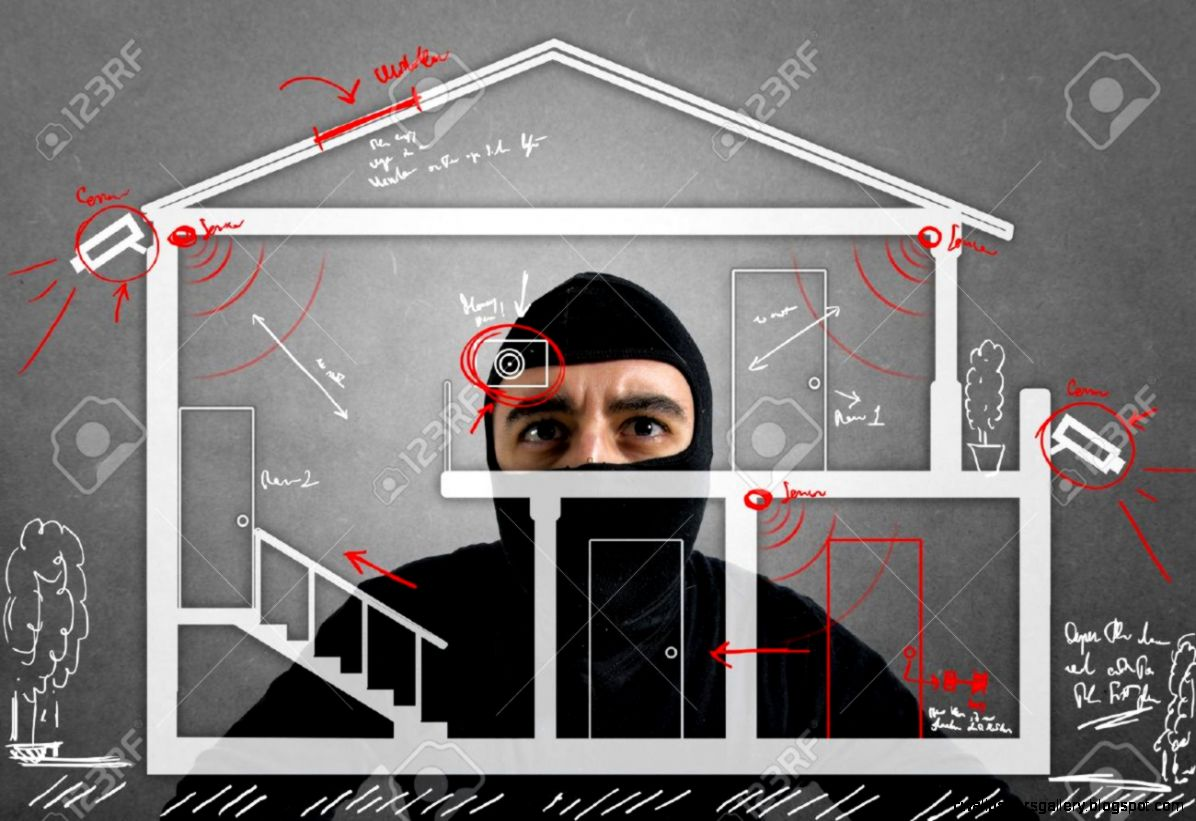 Thief Apartment Studying Security System Of A New House Stock