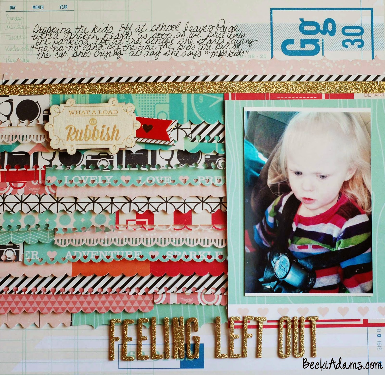 layout using Shimelle's collection by Becki Adams #scrapbooking #Shimellecollection