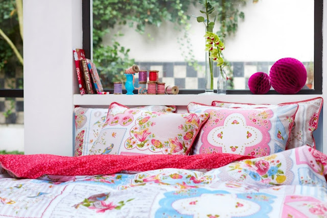 pretty pink duvet, summer collection