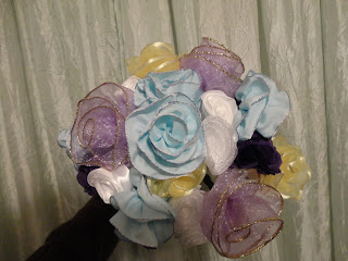 ribbon rose bouquet