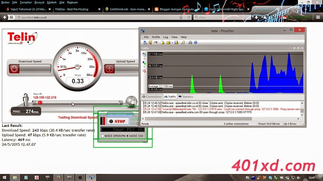 Inject Telkomsel Hight Speed Mini V.6 Anti Disconnect Listen Port 1992 update 24 Mei 2015