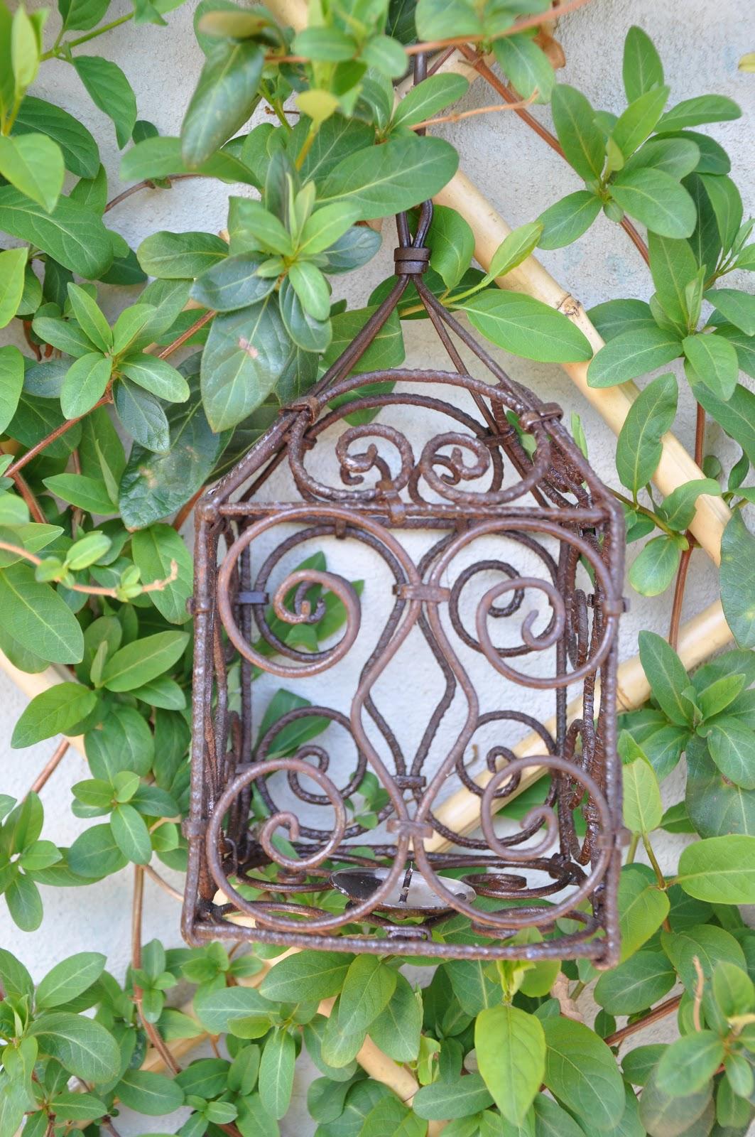 Il giardino del brocante come ho arredato la mia terrazza vintage antiche lanterne da esterni - Lanterne da esterno in ferro battuto ...