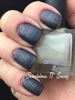 Emerald & Ash Your Face CosmoProf Vegas exclusive over black polish