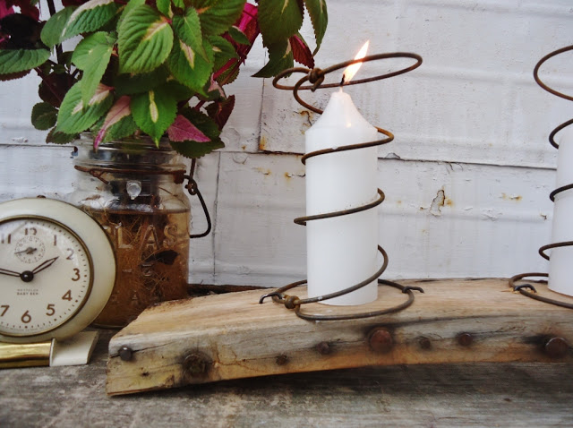 Quirky chair bedspring candle holder by Knick of Time featured on I Love That Junk