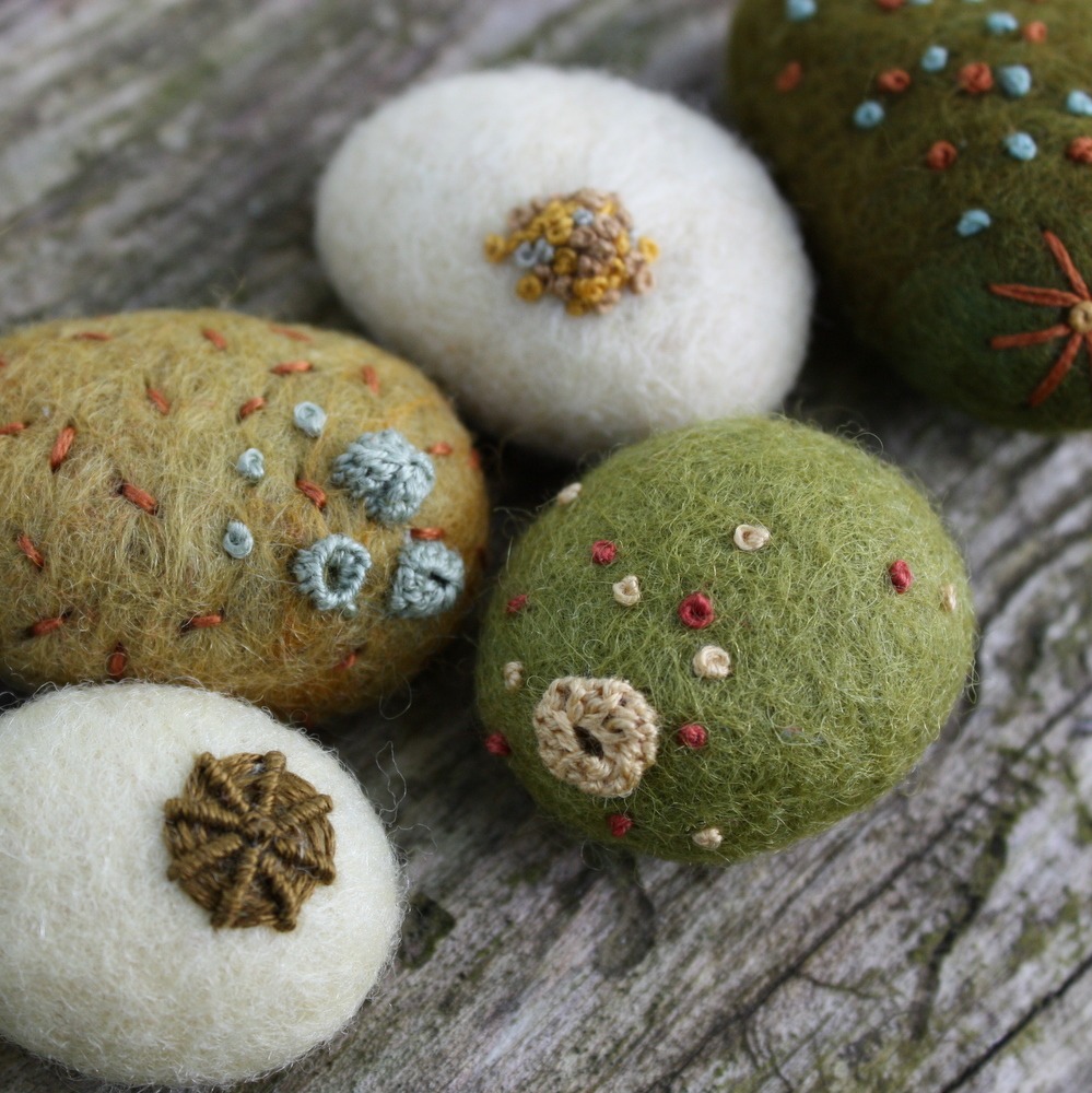 Lil fish studios a quick shop update for Felted wool boulders