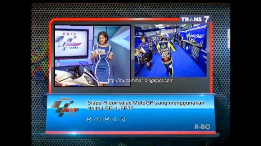 Wes gamblang ! inilah Yamaha YZF R15 V2 Indonesia . . . dalam bentuk bulat di tampilin di Trans7 saat LIVE MotoGP Losail Qatar !