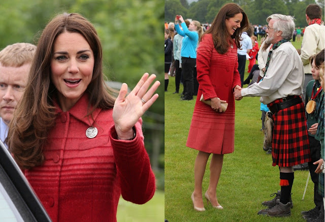 "Kate wore Jonathan Saunders, the designer's ""Athena"