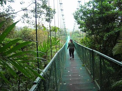 Puente colgante selva, Monteverde, Costa Rica, vuelta al mundo, round the world, La vuelta al mundo de Asun y Ricardo, mundoporlibre.com