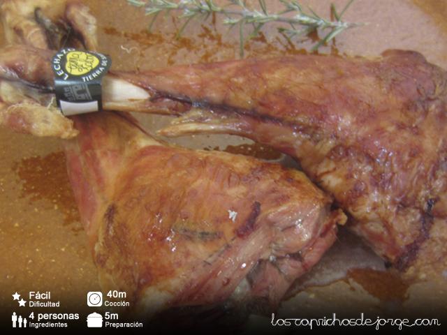 Los caprichos de jorge pierna de cordero lechal asada en - Pierna de cordero lechal ...