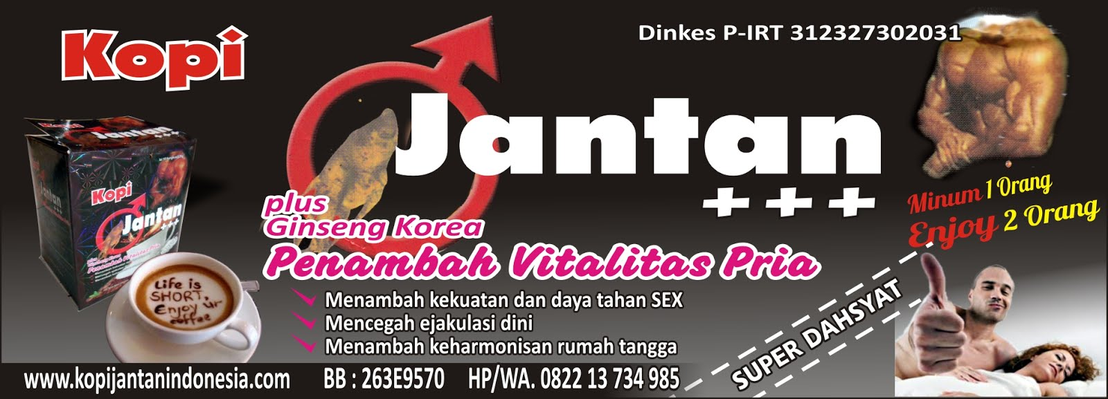 KOPI JANTAN INDONESIA MAU PESAN CP 081365400225