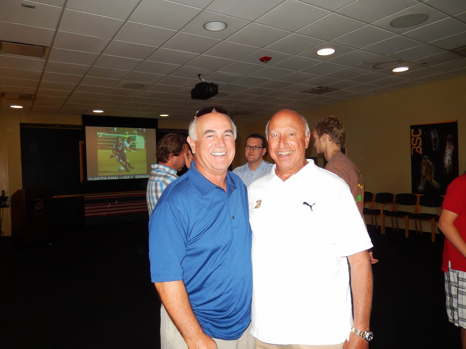 coach goldfarb  it was an extremely nice affair complete lunch and slide show of our victories playing in the background it was truly a highlight for me