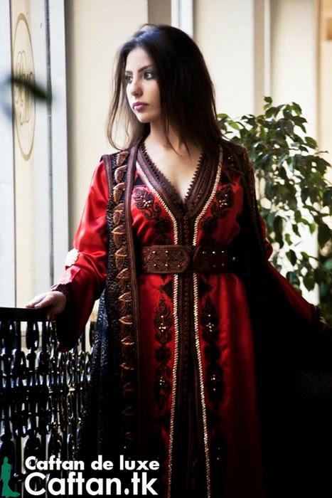 Sublime Caftan marocain trois pièces