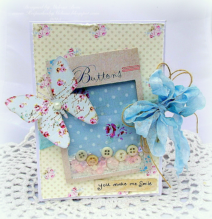 Creating from the Heart: ♥ Shabby Chic Button Card Shaker