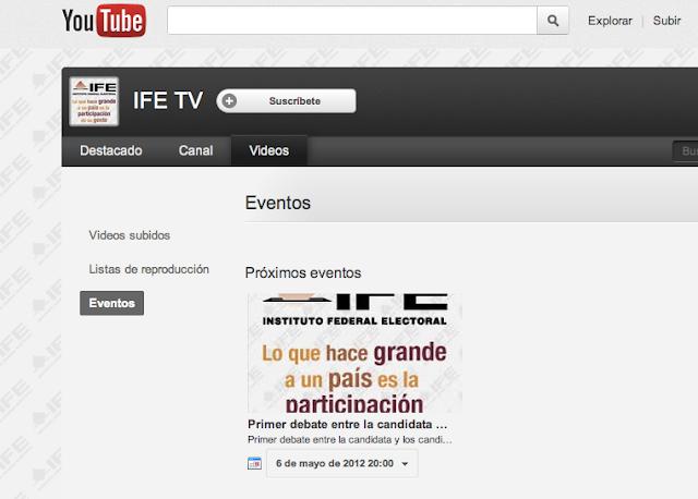 Debate presidencial será transmitido en vivo por Youtube