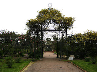 the Rosedal at the Prado's Park in Montevideo Uruguay