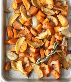roasted sweet potatoes & apples with chinese five spice recipe by seasonwithspice.com