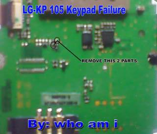 lg kp 105 keypad problem