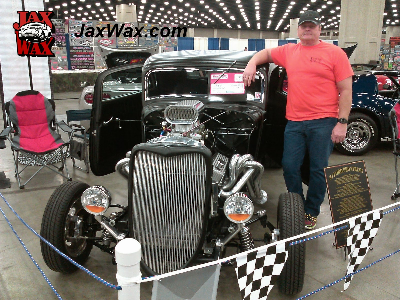 1934 Ford Pro Street Carl Casper Auto Show Jax Wax Customer