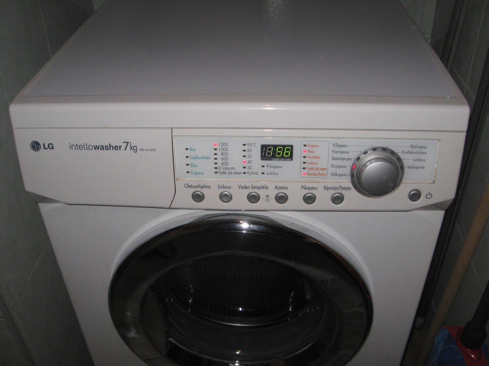 Lg pyykinpesukone huolto