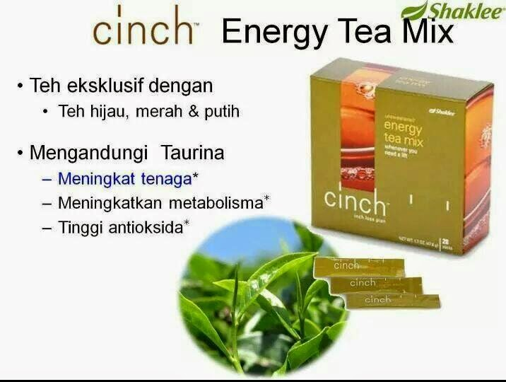 Khasiat cinch energy tea mix shaklee