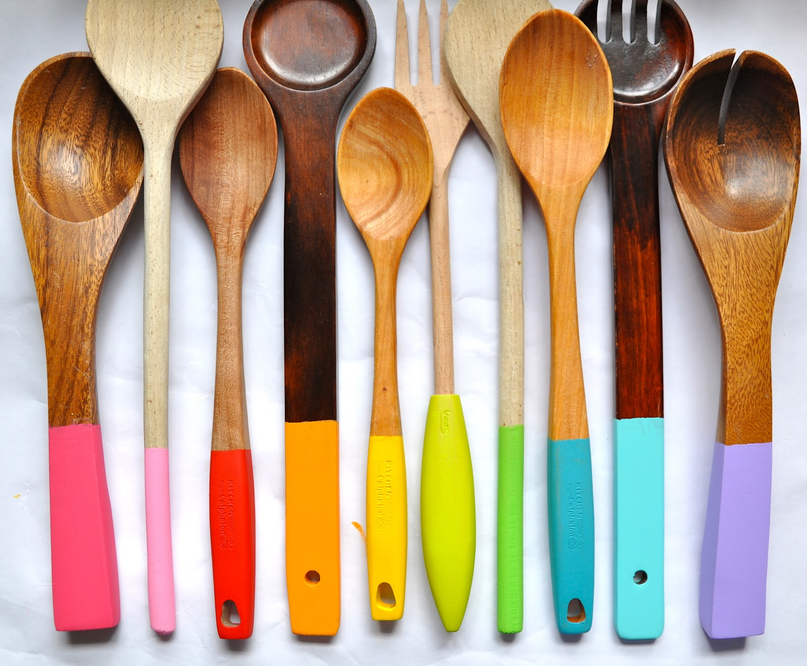Little Bit Funky Painting Wooden Spoons