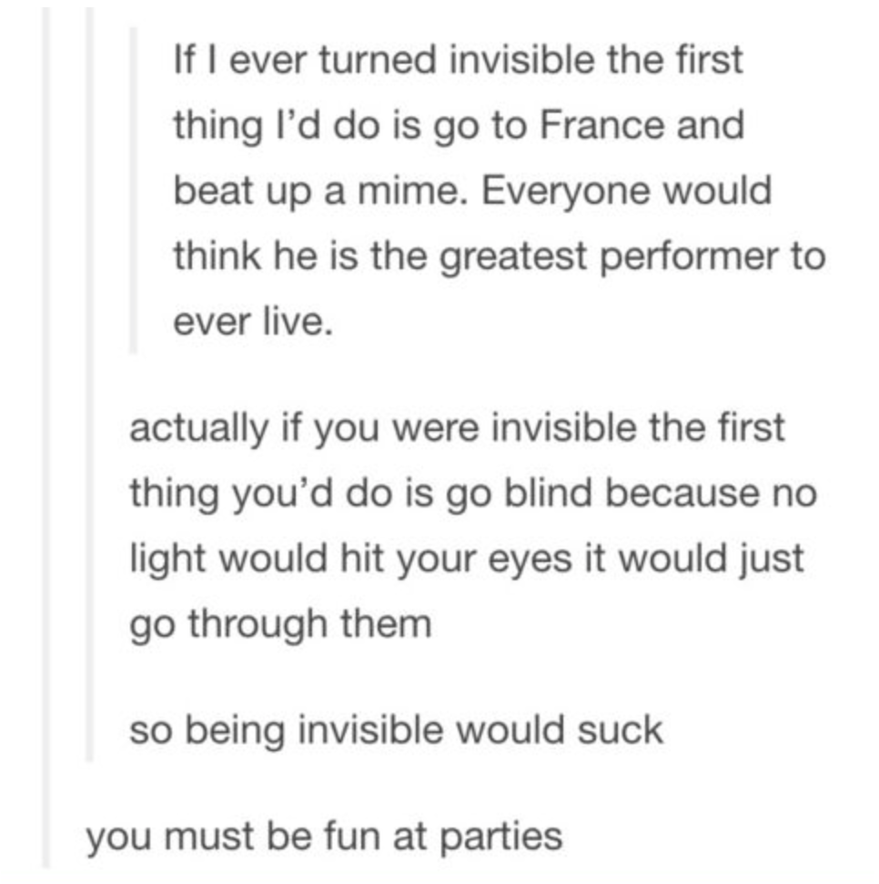 if i was invisible