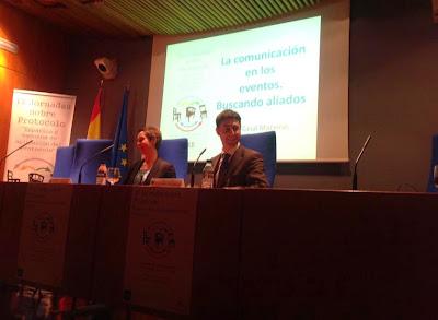 Olga Casal. IX Jornadas de Protocolo. UNED Madrid