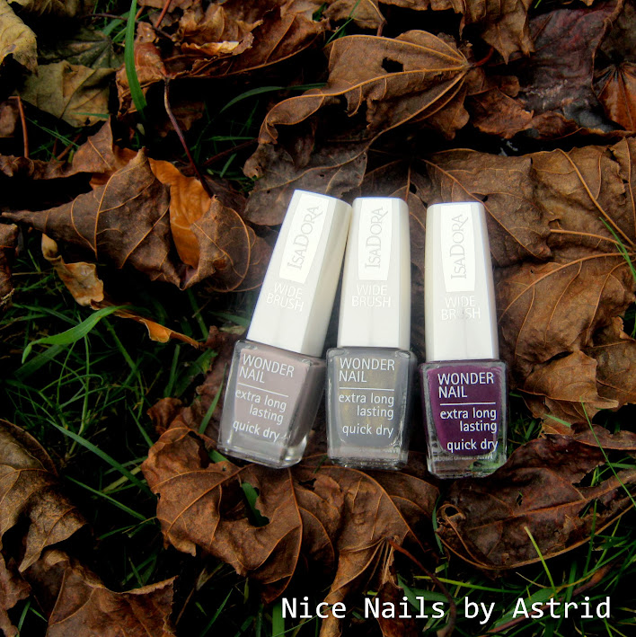 Præmie fra Isadora - Little Sparrow, Loden Green & Purple Reign - Nice nails by astrid