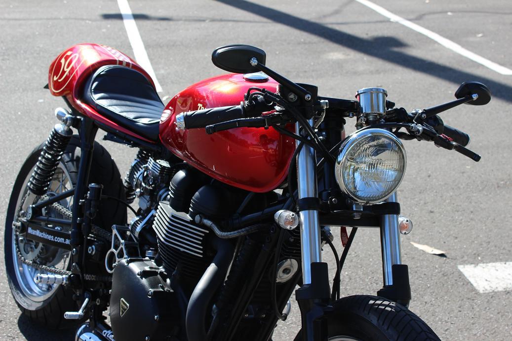 Red Baron Triumph Bonneville Cafe Racer Return of the