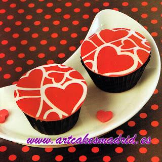 Curso de cupcakes con corazones para San Valentin