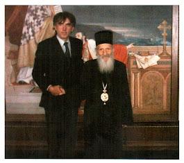 Његова светост српски патријарх Павле и моја маленкост, новембар 2003. г. Патријаршија у Београду.