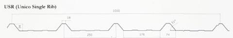 ATAP USR 1000 (UNICO SINGLE RIB) ZINCALUME GALVALUME