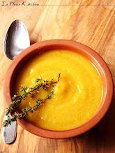 Crema di lenticchie rosse e zucca
