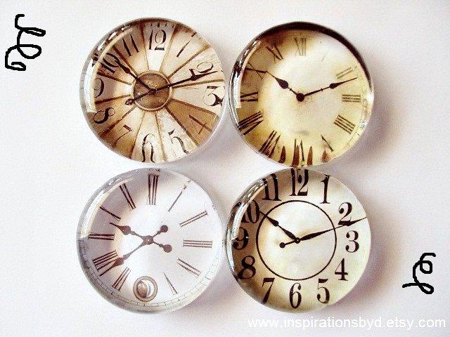 glass clock magnets