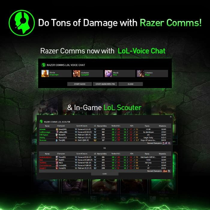 razer comms gaming voip and chat software to provide league of legends voice chat and scouter. Black Bedroom Furniture Sets. Home Design Ideas