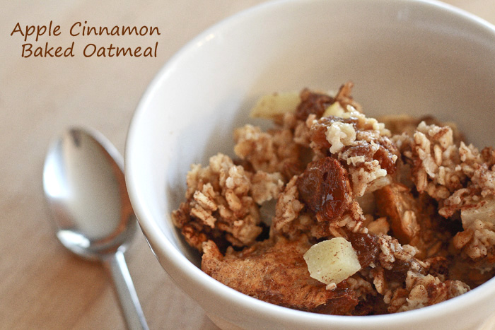 Lemon Drop: Apple Cinnamon Baked Oatmeal