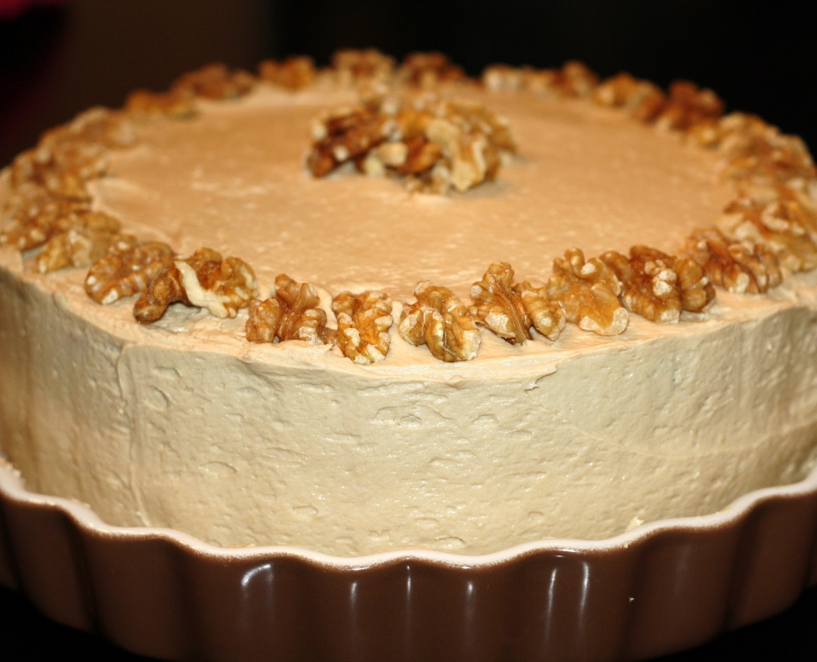 sunday sweets: maple-walnut cake with brown-sugar frosting