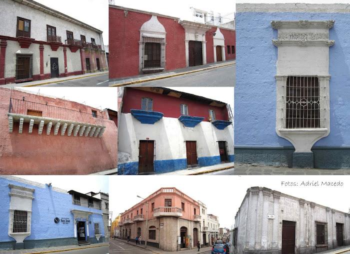 Calles Villalba  y Cruz Verde.   Arequipa