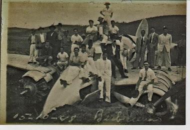 ACIDENTE AEREO NAS TERRAS ESCOLA AGRICOLA 15/10/1948.