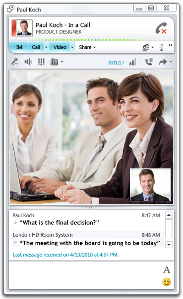 office change lync conferencing