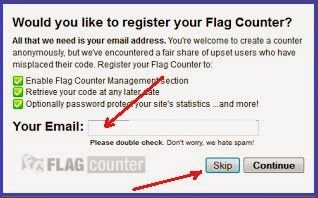 Gambar Email konfirmasi Flag counter