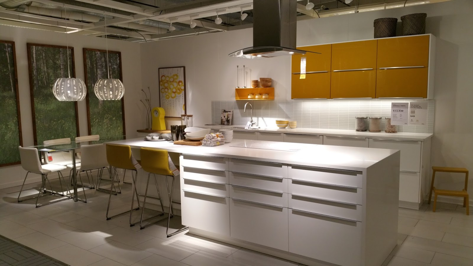 ikea ringhult yellow white kitchen navteo